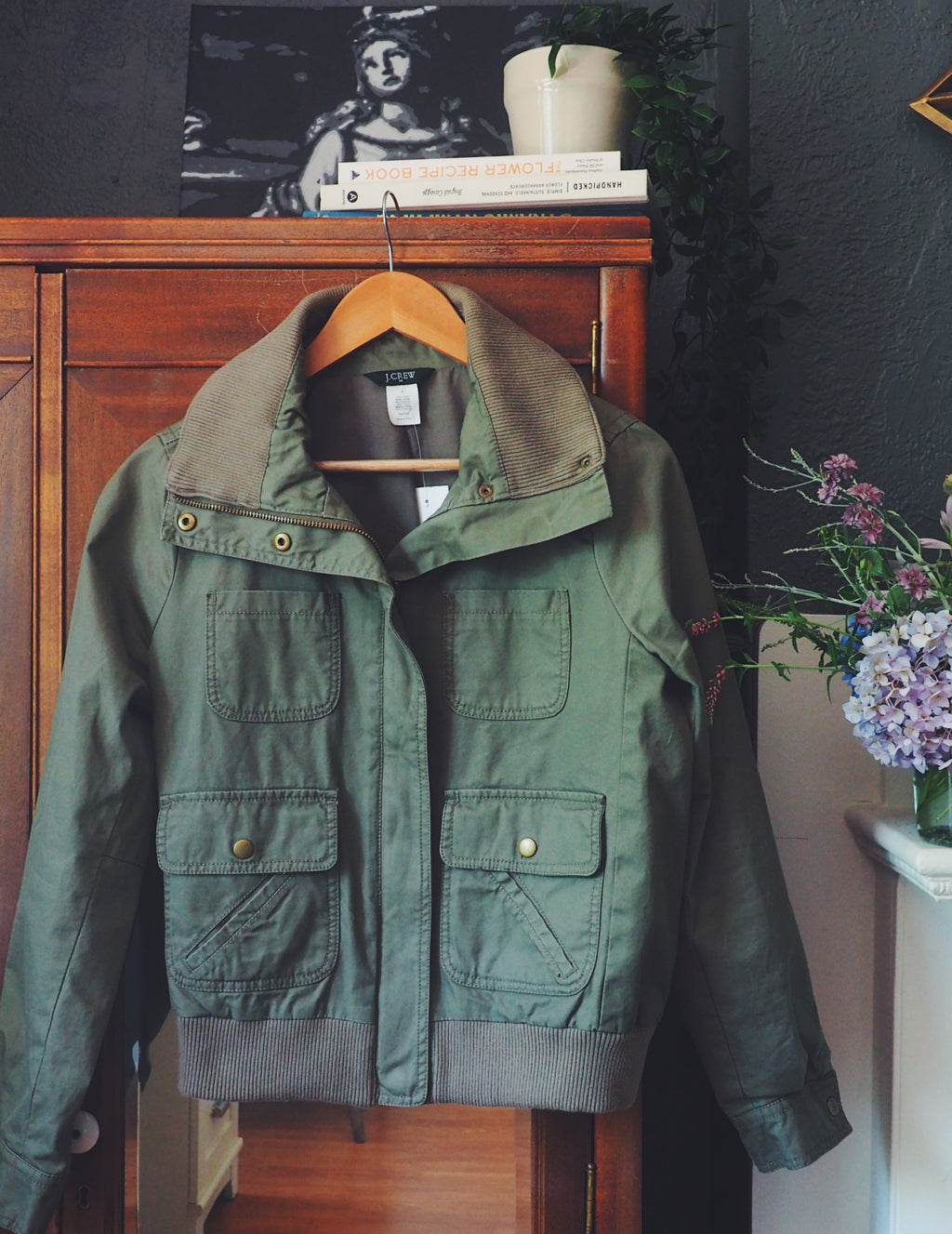 J.Crew Bomber Green Jacket