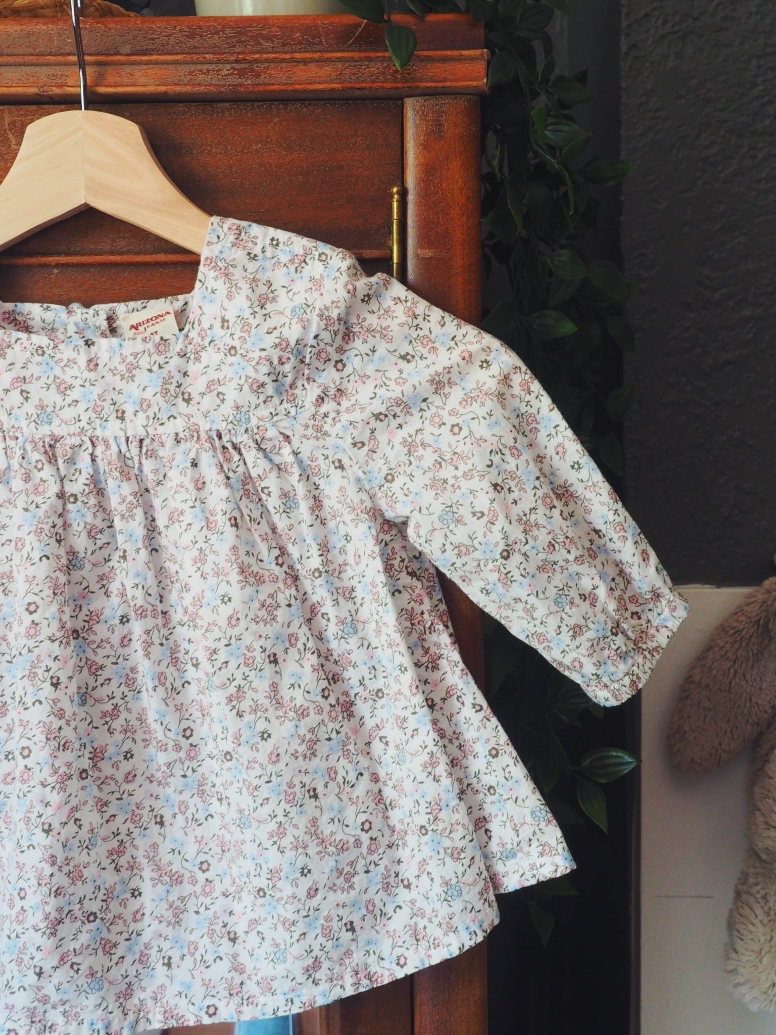 Girls Soft Floral Blouse