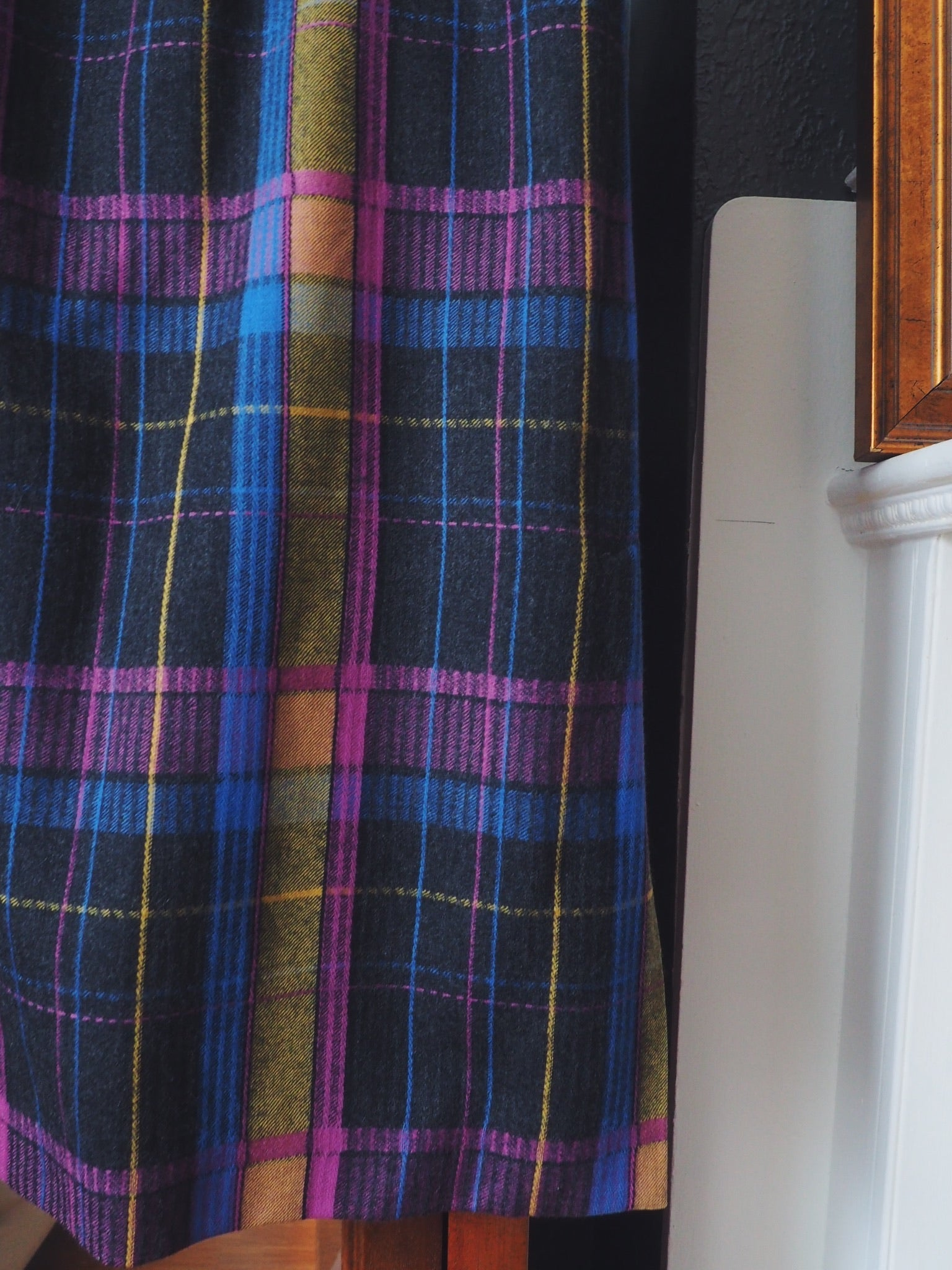 Vintage Plaid Wool Pencil