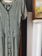 Load image into Gallery viewer, 90s Plaid Button Front Maxi Dress