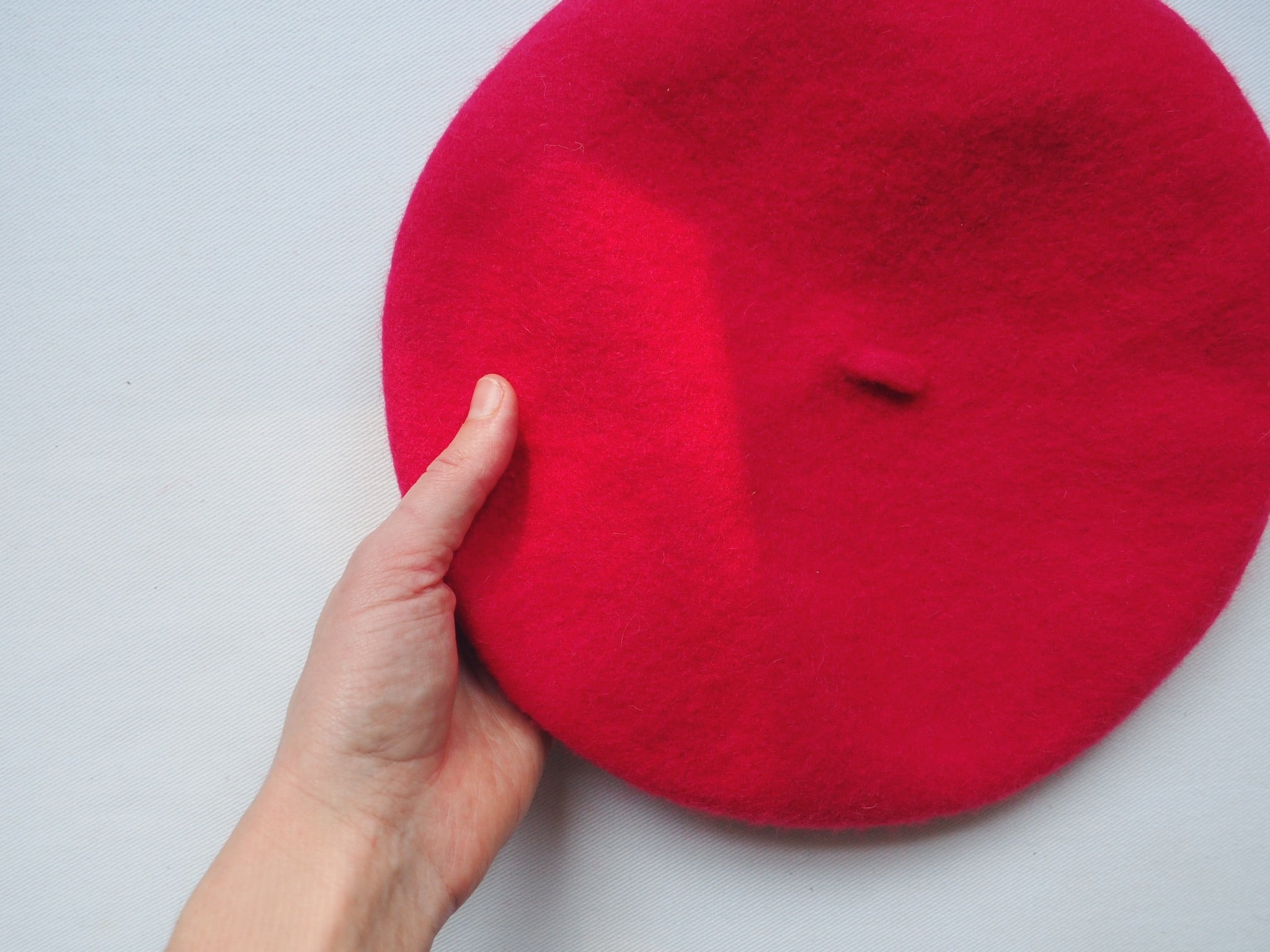 100% Wool Red Beret