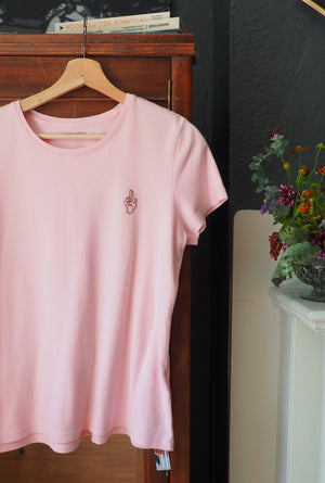 Thrifted & Threaded Wounded Healer T in Pink