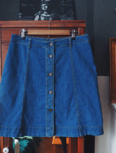 Load image into Gallery viewer, Denim Button Front Skirt