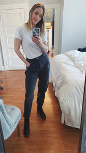 80s black high waist denim
