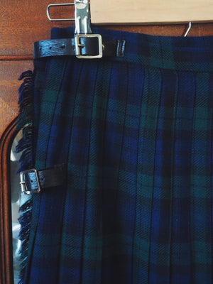 Navy and Green Scottish Tartan Skirt
