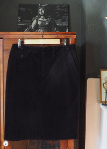 Corduroy Black Pencil Skirt
