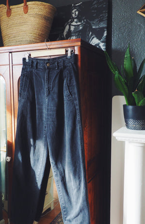80s Black High-Waist Denim