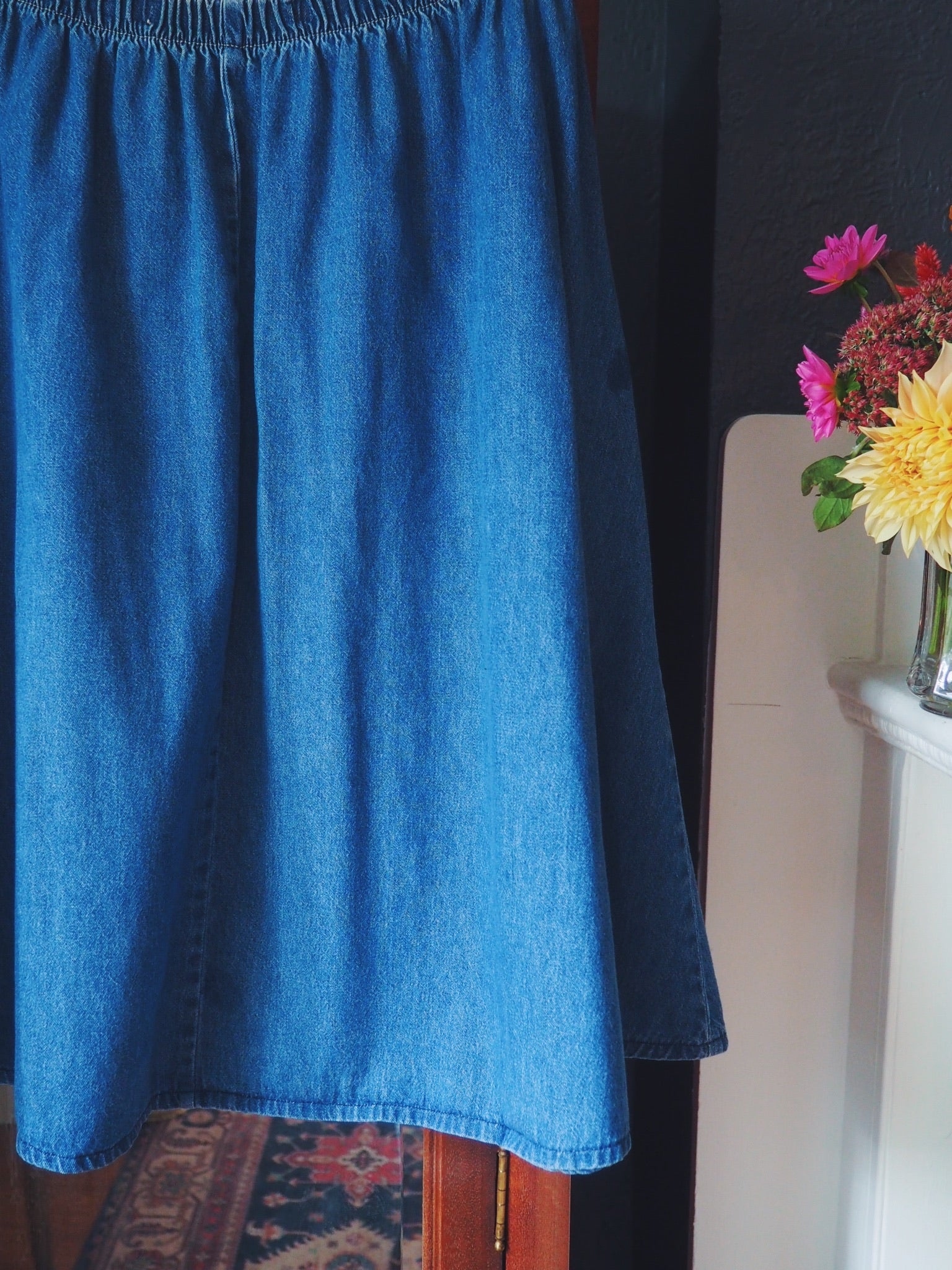 Vintage A-line Denim Skirt