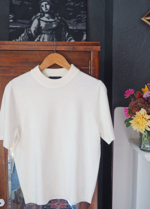 Vintage Cream Mock Neck