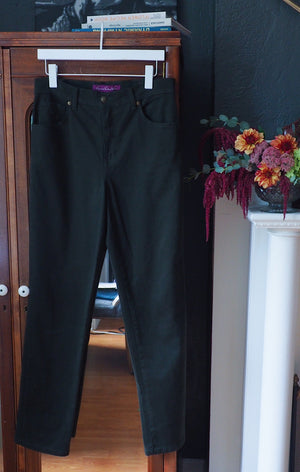 Forest Green Straight Leg Pants