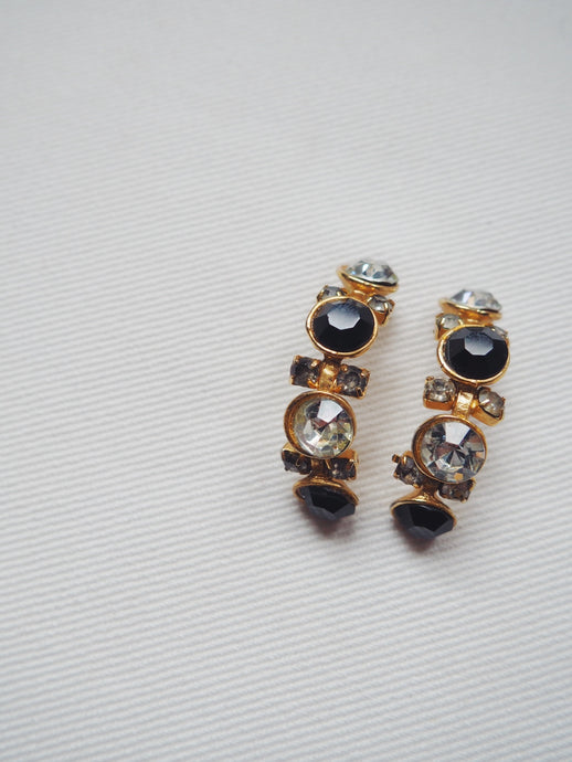 Vintage Two Toned Statement Earrings