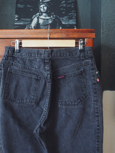 Load image into Gallery viewer, 80s black high waist denim