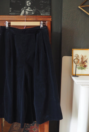 Vintage Made in the USA Navy Blue Culottes