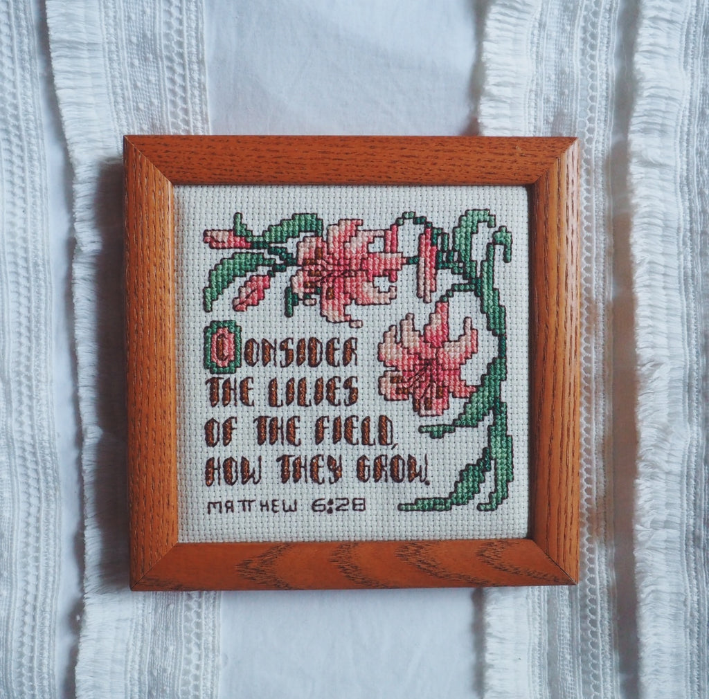Thrifted Needlepoint Verse