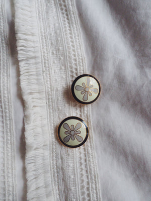 Vintage Floral Clip-On Earrings
