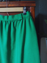 Load image into Gallery viewer, Vintage Kelly Green A-Line Midi Skirt