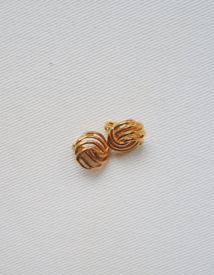 Retro Weave Clip-On Earrings