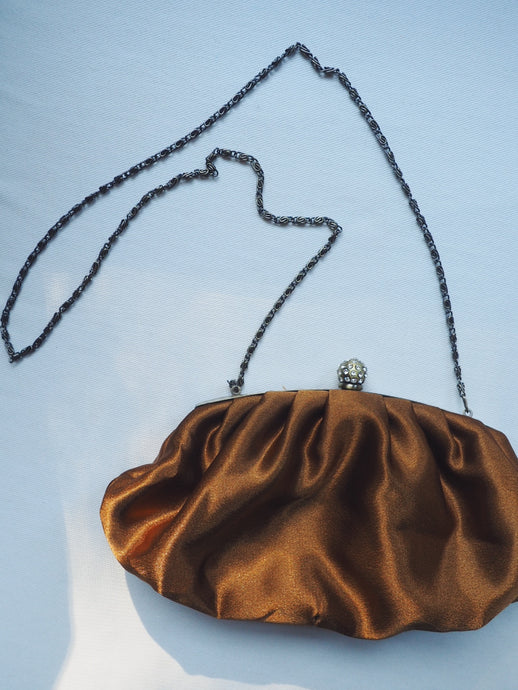 Vintage Satin Copper Evening Purse