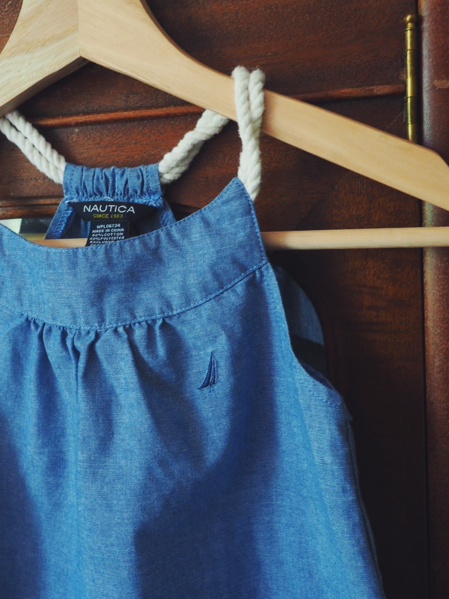 Girls Nautica Chambray Tank Dress