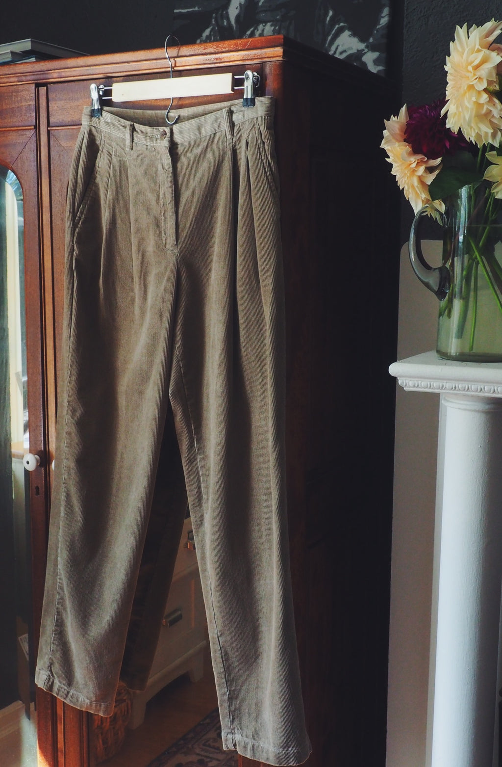 Vintage Corduroy High-Waist Pants