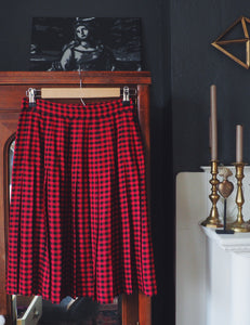 Gap Plaid Pleated Skirt