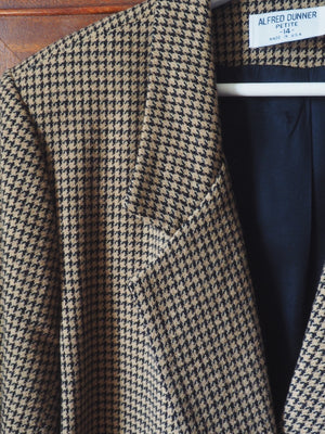 Vintage Made in the USA Houndstooth Blazer