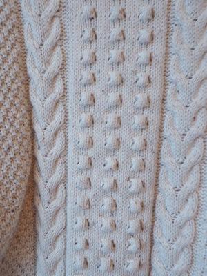 Soft White Cableknit Sweater