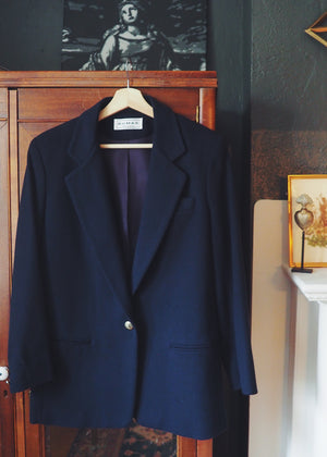 Vintage Made in the USA Navy Blue Blazer