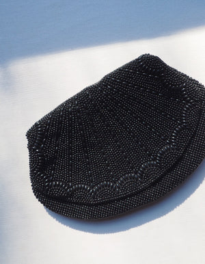 Vintage Black Beaded Clutch
