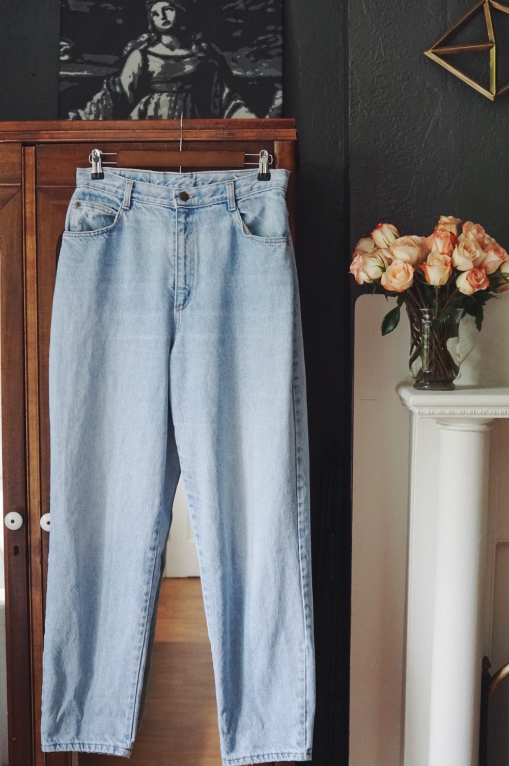 Vintage Light Wash High Waist Denim