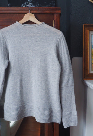Banana Republic Gray Mock Neck Sweater