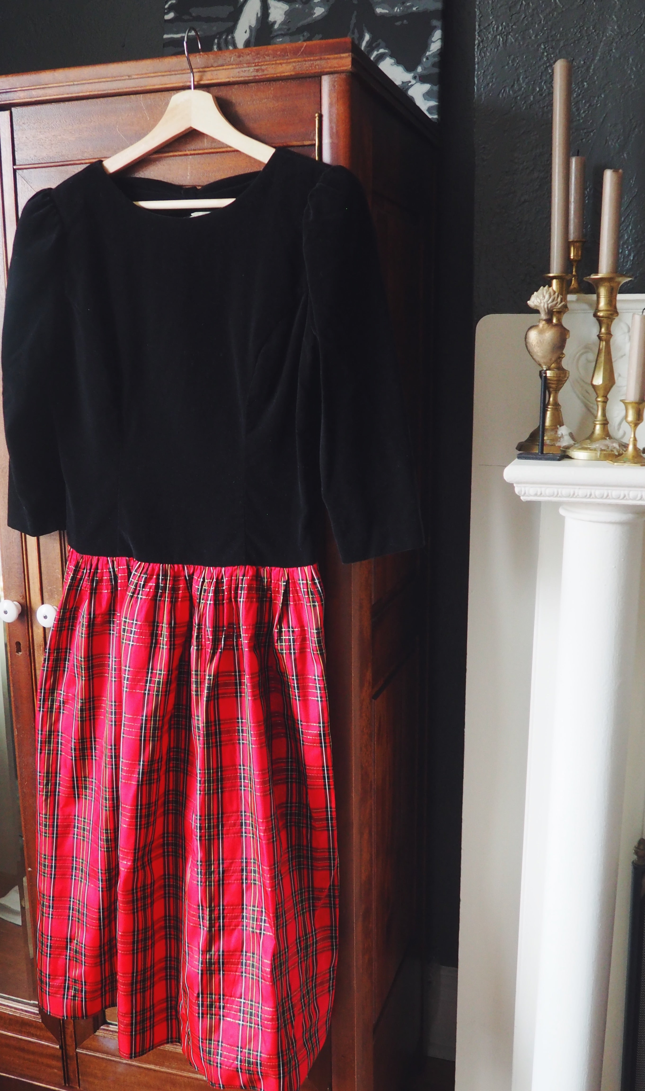Black and Red Plaid Holiday Dress