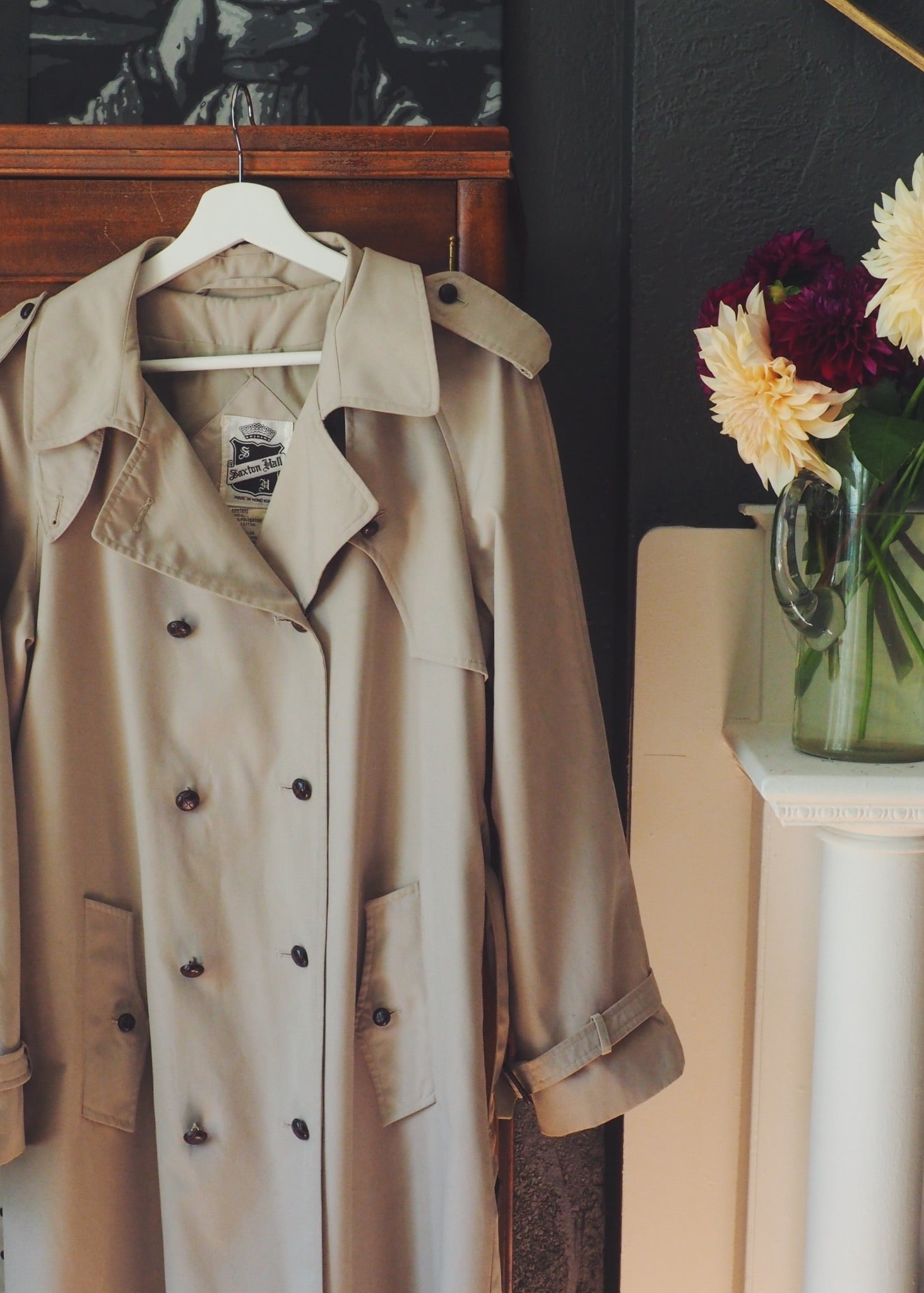 Vintage Double-Breasted Trench Coat