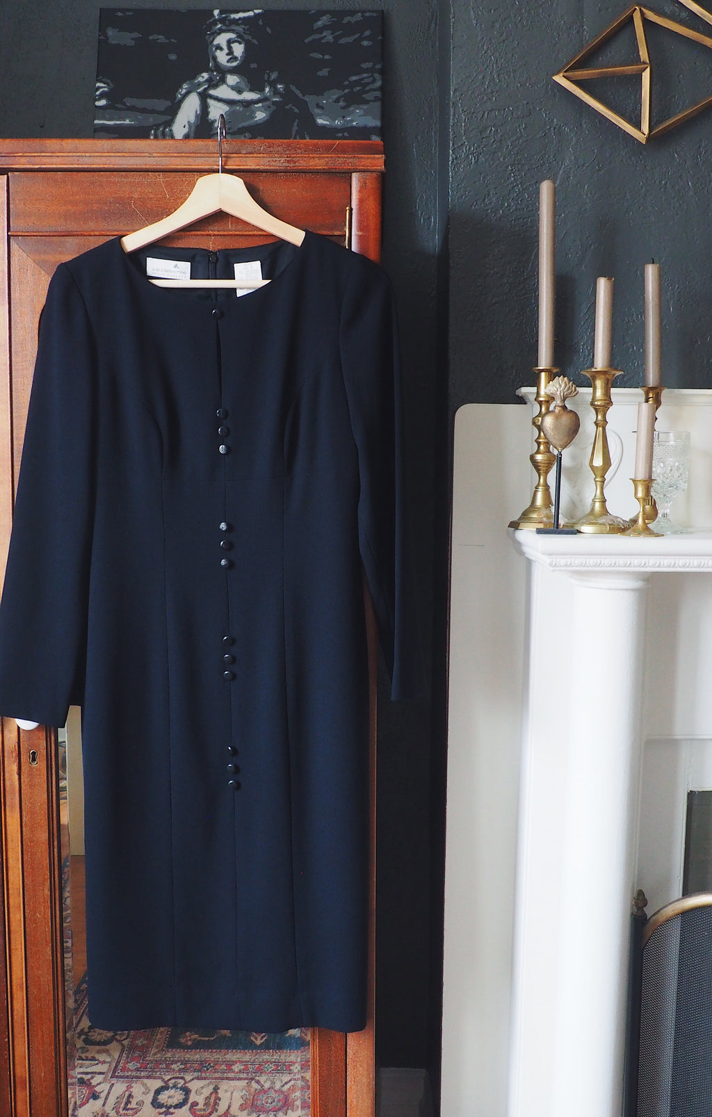 Vintage Liz Claiborne Button Midi Dress