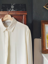 Load image into Gallery viewer, 90s Creamy Sheer Long Sleeve Blouse