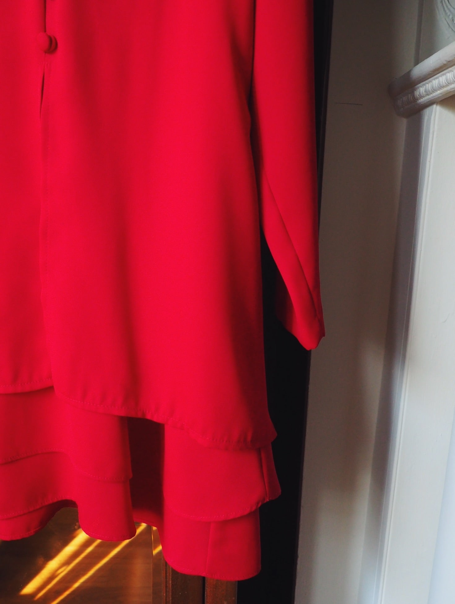 Vintage 90s Cherry Red Dress