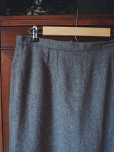 Load image into Gallery viewer, Vintage Wool Pencil Midi Skirt