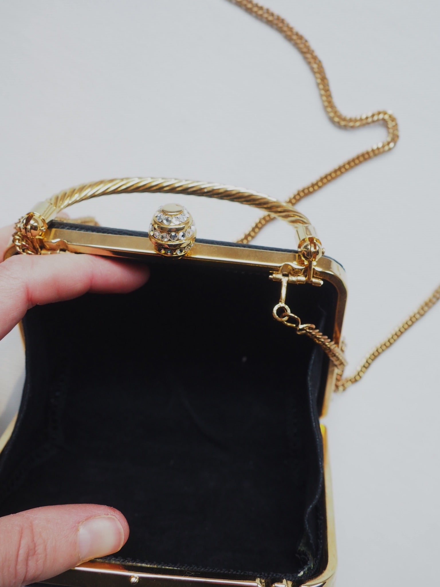 Vintage Black Box Evening Purse