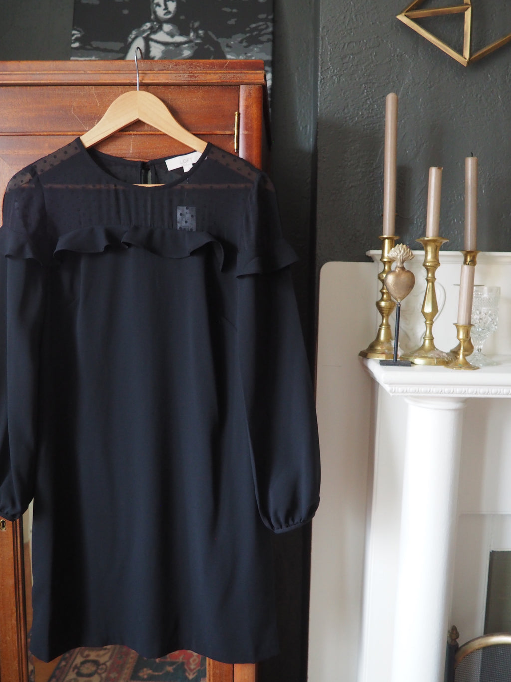 NEW Loft Long-Sleeve Shift Dress