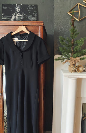 Vintage Empire Waist Peter Pan Collar Dress