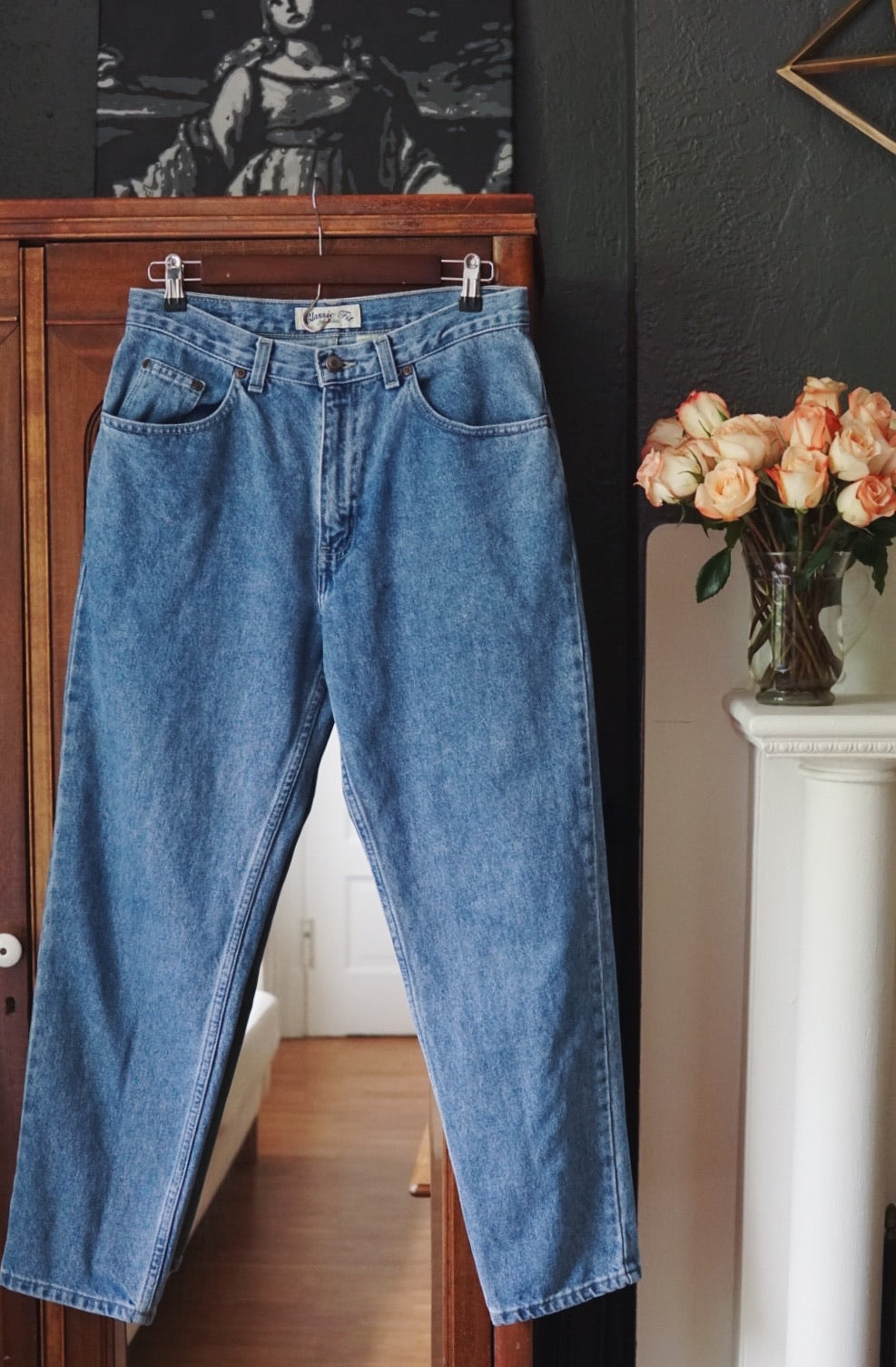 Vintage High-Waist Medium Wash Denim