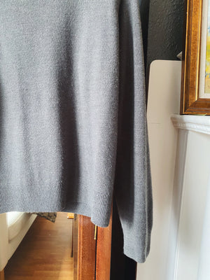 Vintage Gray Mock Neck