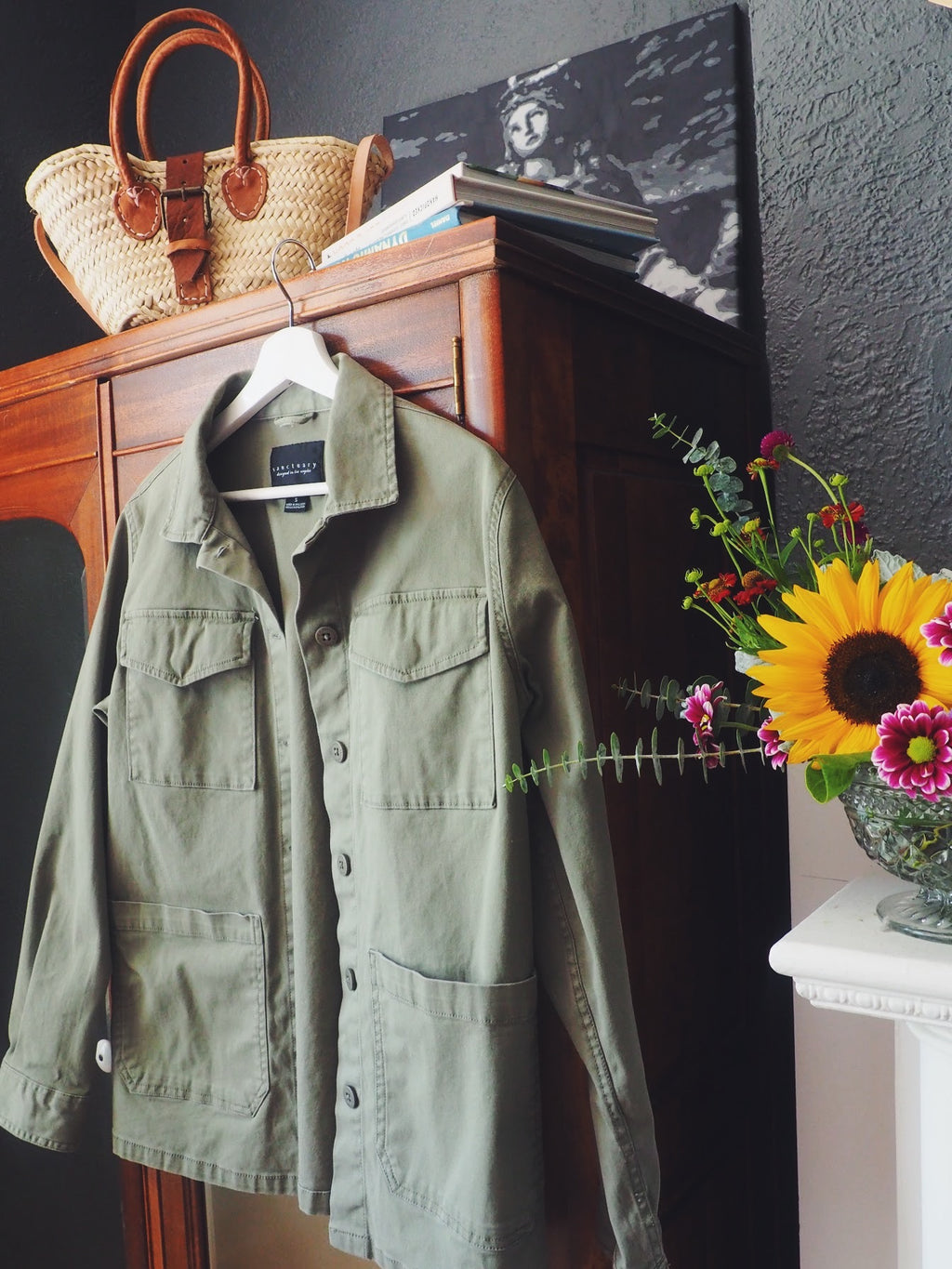 Cotton Green Utility Jacket