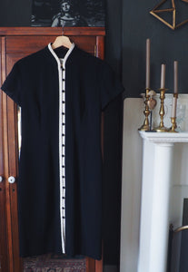 Vintage Evan Picone Button-Down Sheath Dress