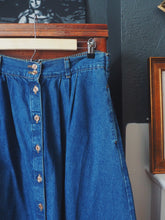 Load image into Gallery viewer, Vintage Denim Button Front Midi Skirt
