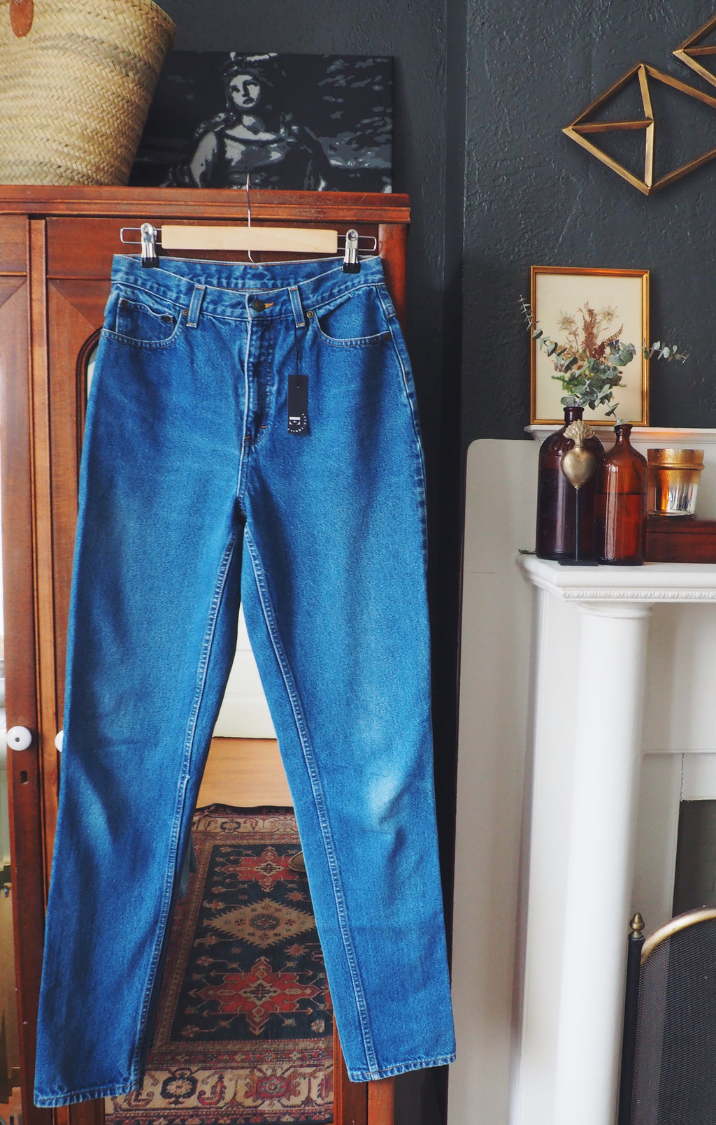 Vintage 100% Cotton High-Waisted Jeans
