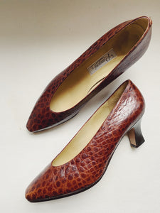 Vintage Alligator Pumps