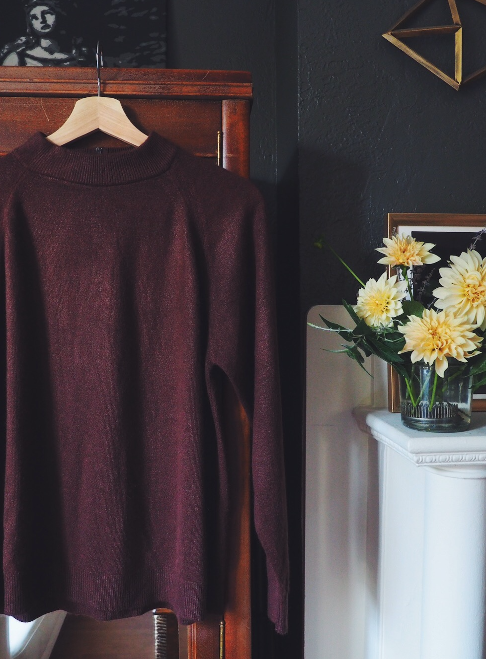Vintage Brown Mock Neck