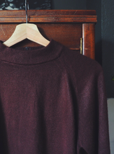 Load image into Gallery viewer, Vintage Brown Mock Neck