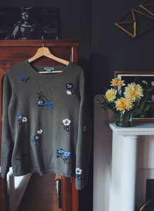 90s Floral Sweater